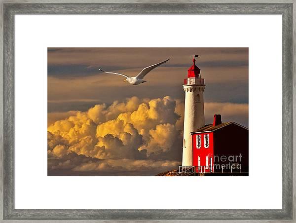 Vancouver Island Lighthouse Framed Print