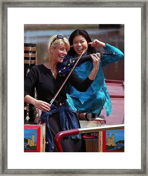Vanessa And Ulirka Framed Print by Jez C Self