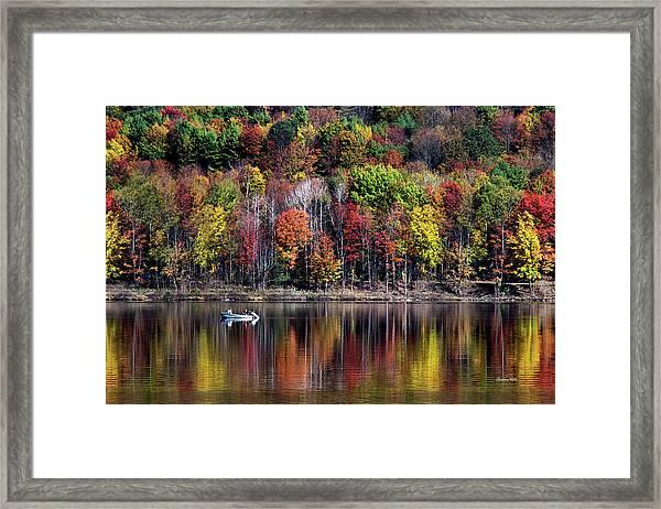 Vanishing Autumn Reflection Landscape Framed Print