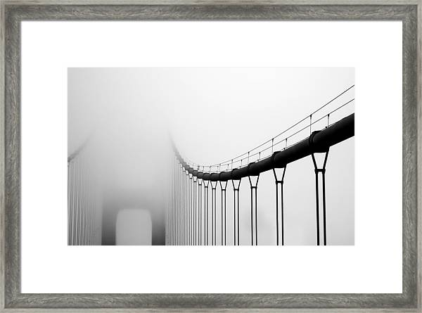 Vanishing Bridge Framed Print