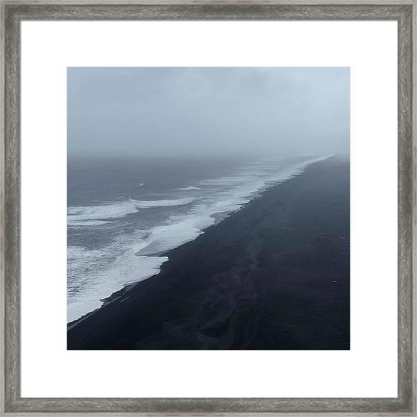 Vanishing Point - Dyrholaey, Iceland Framed Print