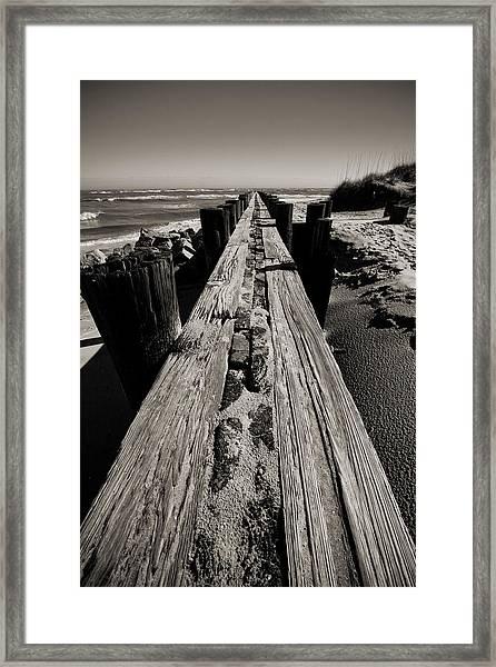Vanishing Point Folly Beach Framed Print