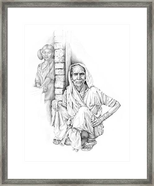 Varanasi Woman Framed Print