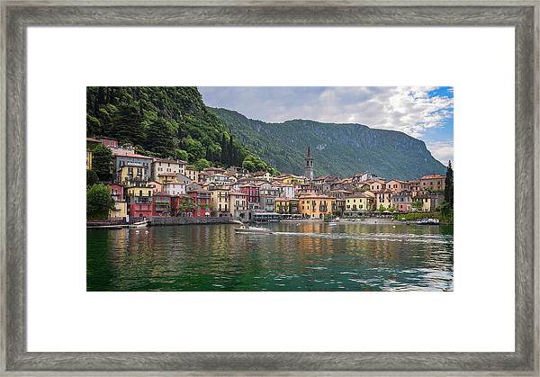 Varenna Italy Old Town Waterfront Framed Print