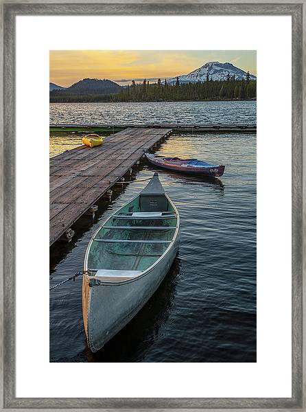 Variation On A Theme At Lava Lake Framed Print