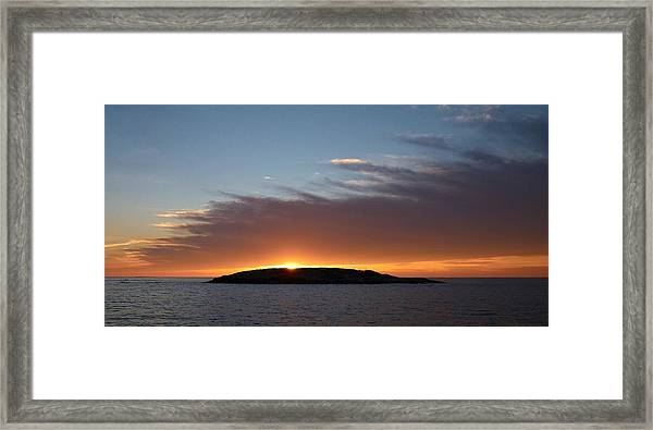Variations Of Sunsets At Gulf Of Bothnia 1 Framed Print
