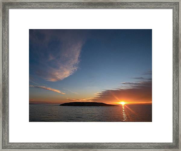 Variations Of Sunsets At Gulf Of Bothnia 2 Framed Print