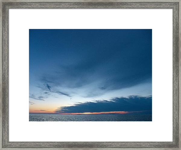 Variations Of Sunsets At Gulf Of Bothnia 4 Framed Print