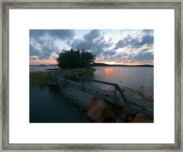 Variations Of Sunsets At Gulf Of Bothnia 6 Framed Print