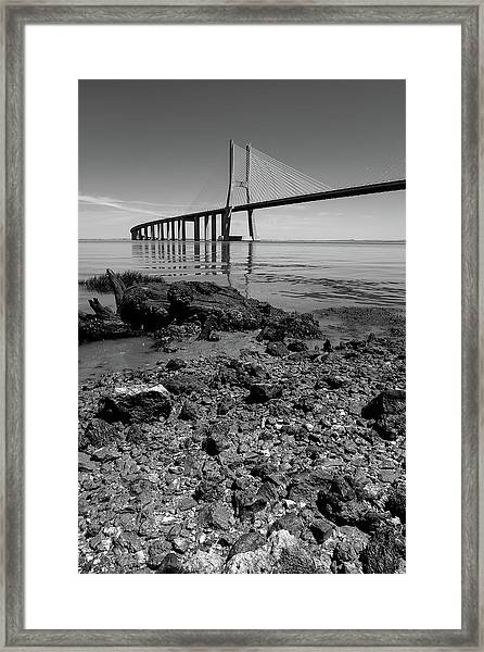 Vasco Da Gama Bridge II Framed Print