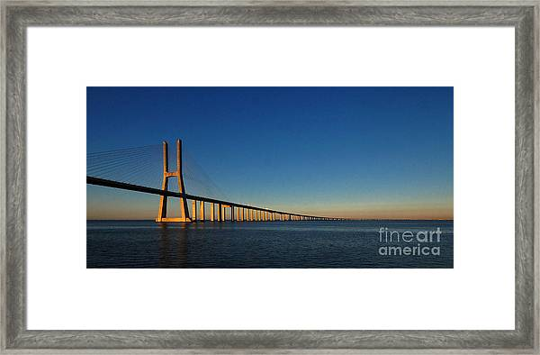 Vasco Da Gama Bridge Lisbon 1 Framed Print
