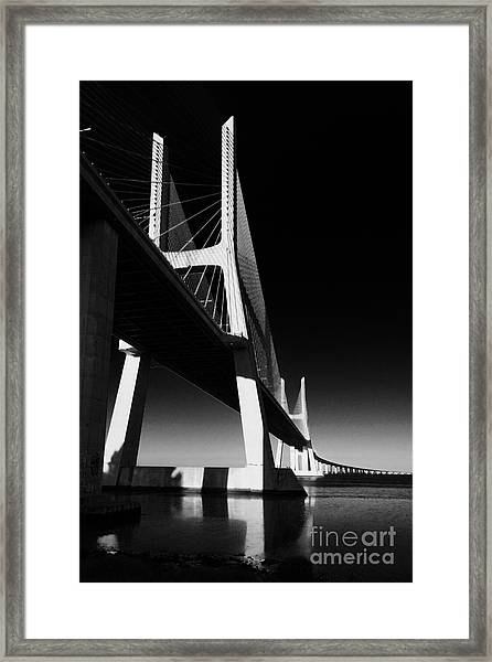 Vasco Da Gama Bridge Lisbon 4 Framed Print