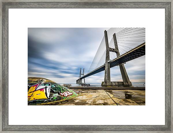 Vasco Da Gama Bridge - Lisbon, Portugal - Architecture Photography Framed Print