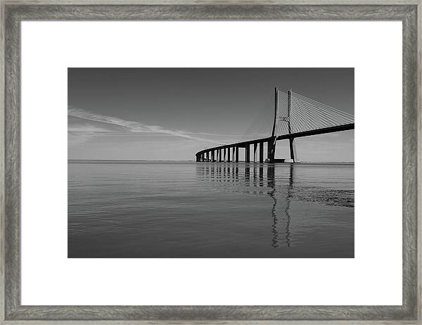 Vasco Da Gama Bridge Framed Print