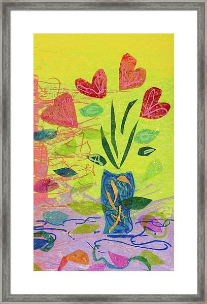 Vase Full Of Love Framed Print