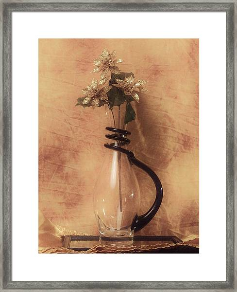 Vase Of Gold Framed Print