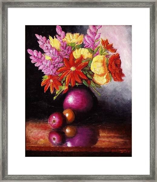 Vase With Flowers Framed Print
