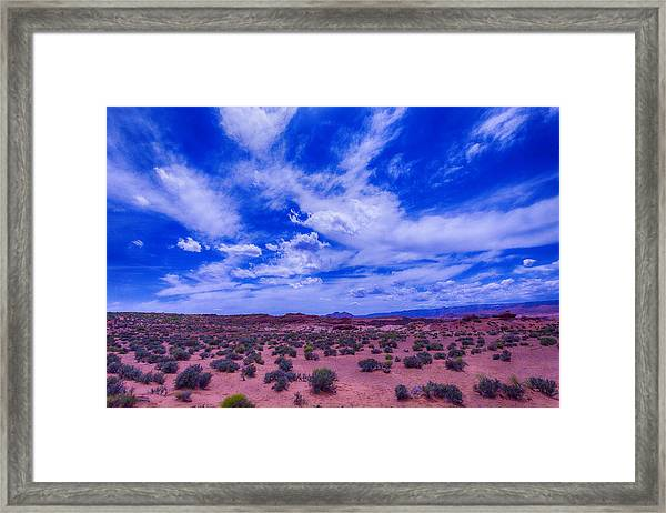 Vast Desert Sky Framed Print