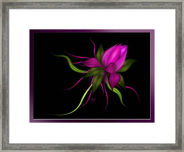 Vector Flower Framed Print