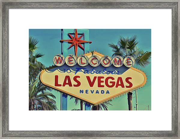 Vegas Framed Print