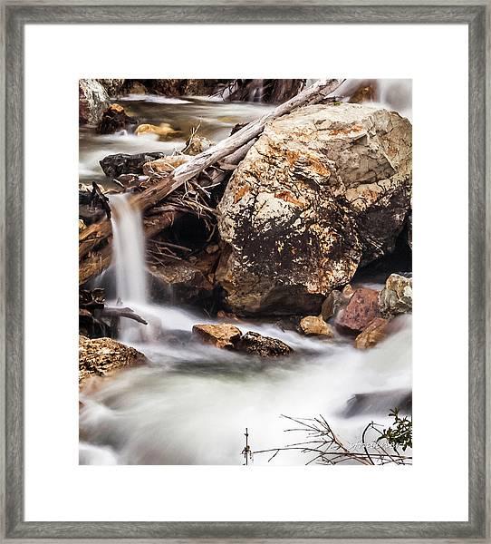 Velvet Falls - Rocky Mountain Stream Framed Print