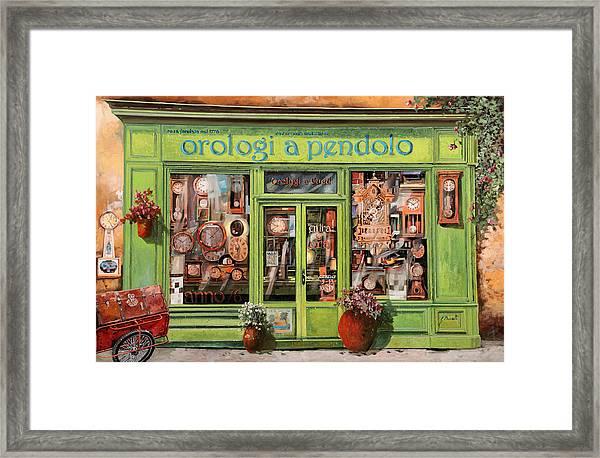 Vendita Di Orologi A Dondolo Framed Print