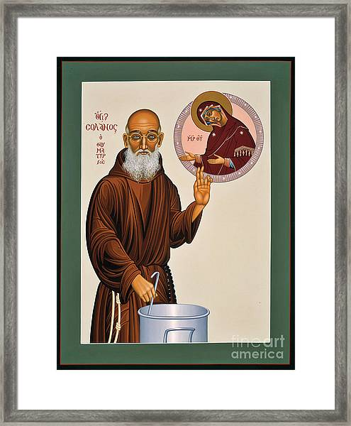 Venerable Fr. Solanus Casey The Healer 038 Framed Print
