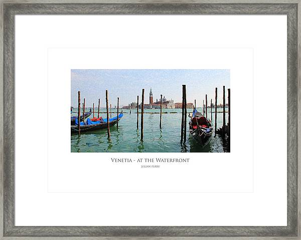 Venetia - At The Waterfront Framed Print