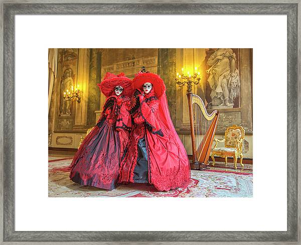 Venetian Ladies In The Palace Framed Print