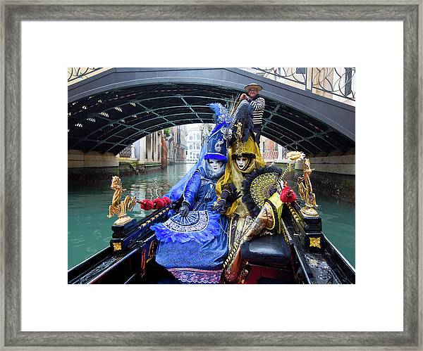 Venetian Ladies On A Gondola Framed Print