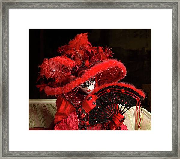 Venetian Lady In Red I  Framed Print