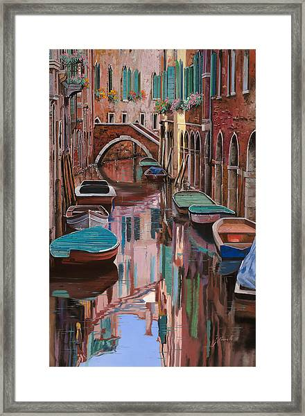 Venezia A Colori Framed Print
