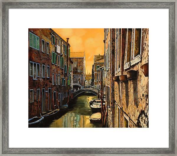 Venezia Al Tramonto Framed Print
