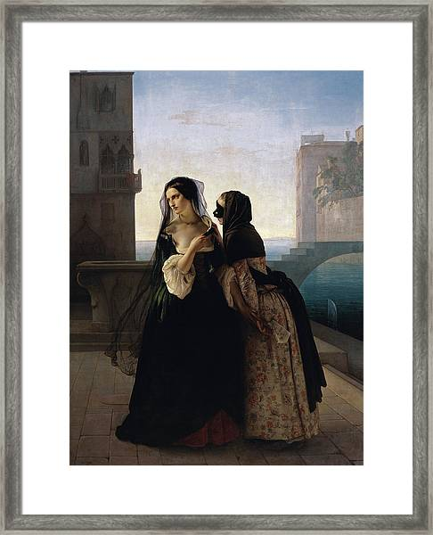 Framed Print featuring the painting Vengeance Is Sworn by Francesco Hayez