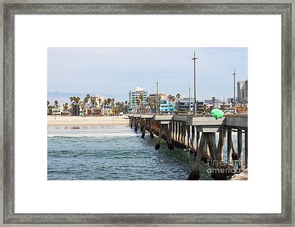 Venice Beach From The Pier Framed Print