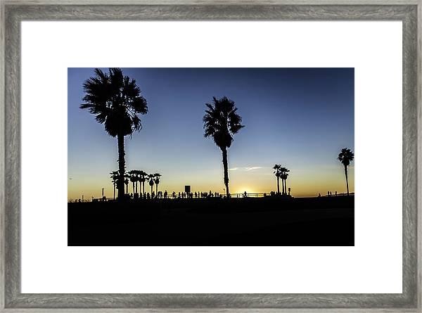 Framed Print featuring the photograph Venice Beach Skatepark by Chris Cousins
