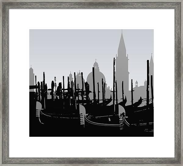 Venice Black And White Framed Print