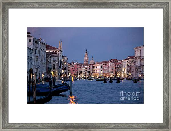 Venice Blue Hour 2 Framed Print