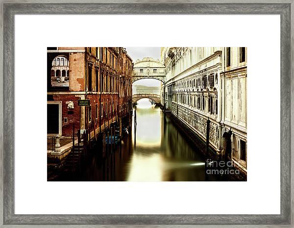 Venice Bridge Of Sighs Framed Print