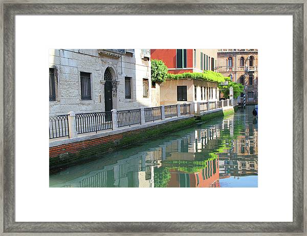 Venice Canal Reflection 3 Framed Print