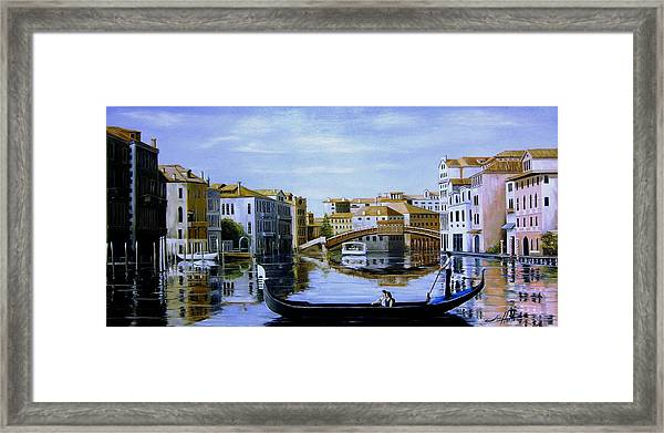 Venice Canal Ride Framed Print by Jim Horton