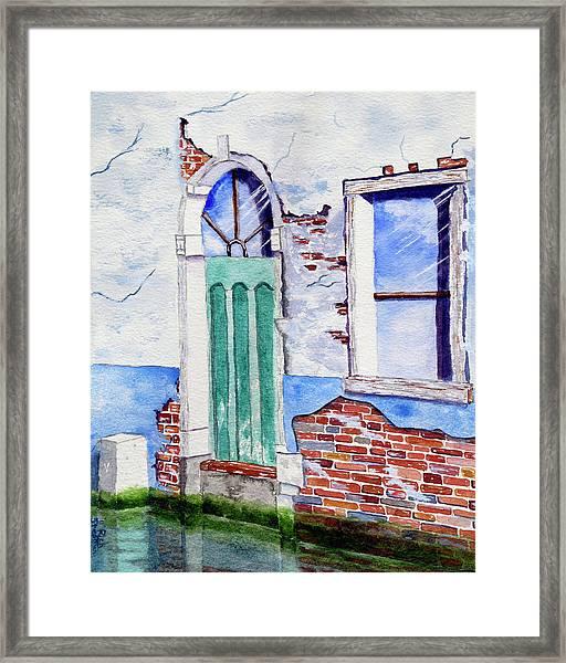 Venice Canal Scene Framed Print