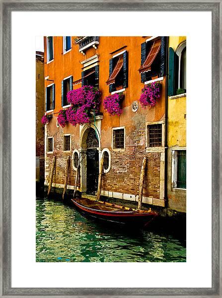 Venice Facade Framed Print