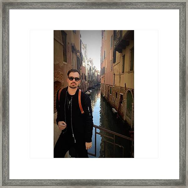 venice. Finally Made It :) Framed Print by Dustin Belt
