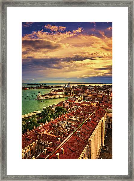 From The Bell Tower In Venice, Italy Framed Print