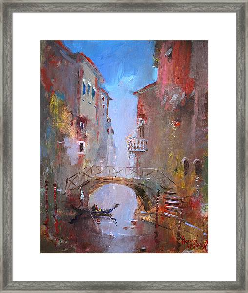 Venice Impression Framed Print