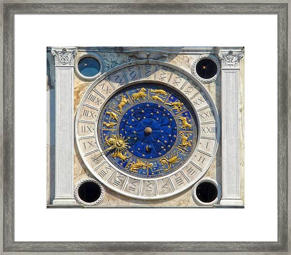 Venice Italy - St.mark's Clock Tower Framed Print