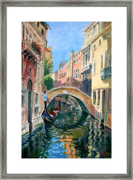 Venice Ponte Widmann Framed Print