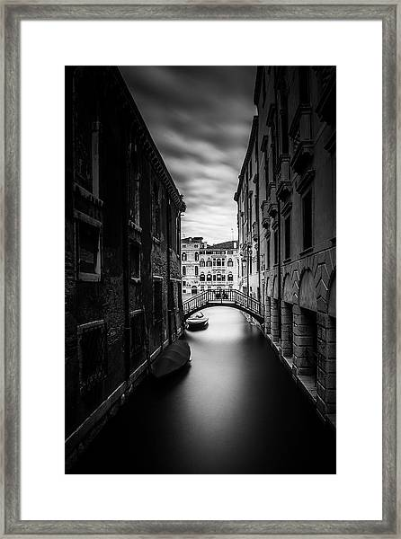 Venice Residential Canal Framed Print by Andrew Soundarajan