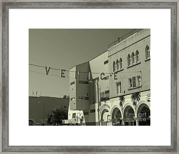 Venice Sign Framed Print